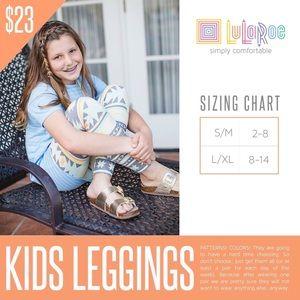 LuLaRoe Bottoms - 🆕 L/XL kids LuLaRoe RARE black Anchor Leggings!!